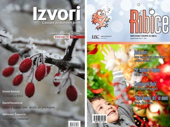 Prelistajte najnovija izdanja kršćanskih časopisa Izvori i Ribice